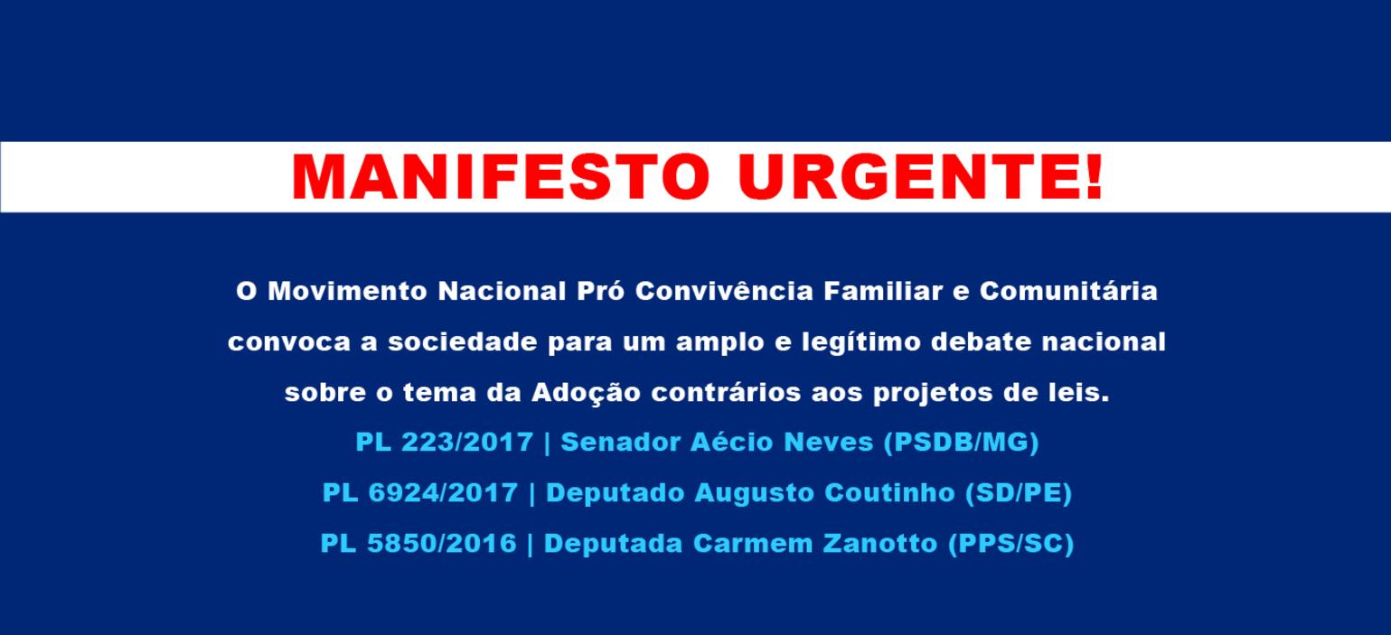 Banner manifesto urgente